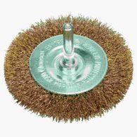 Escova de aço Bosch circular para furadeira arame ondulado resvestido de latão 75mm
