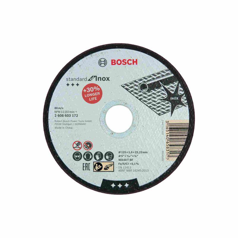 Disco-de-Corte-Bosch-Standard-for-Inox-125x16mm-Centro-Reto