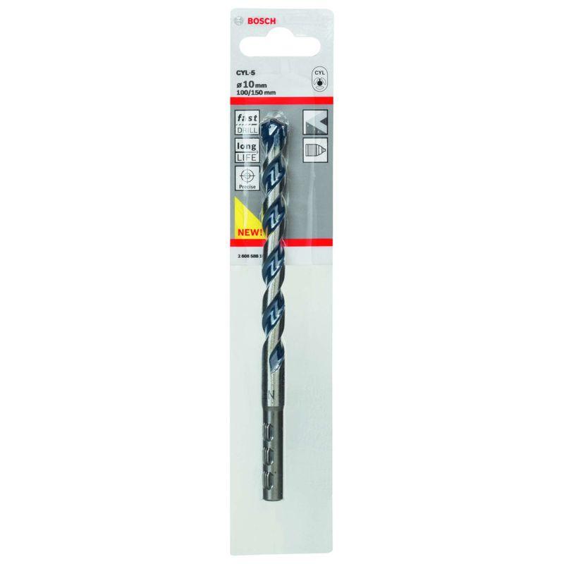 Broca-Bosch-CYL-5-para-concreto-e-pedra-Cilindrico-Ø10-x-100-x-150mm