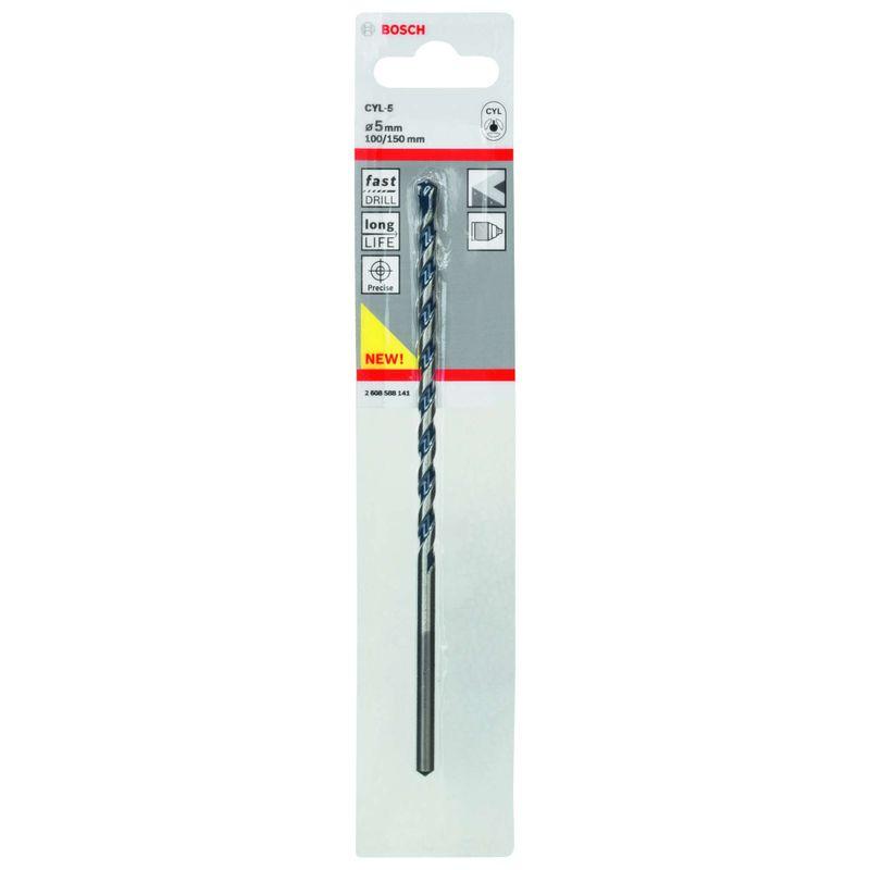 Broca-Bosch-CYL-5-para-concreto-e-pedra-Cilindrico-Ø5-x-100-x-150mm