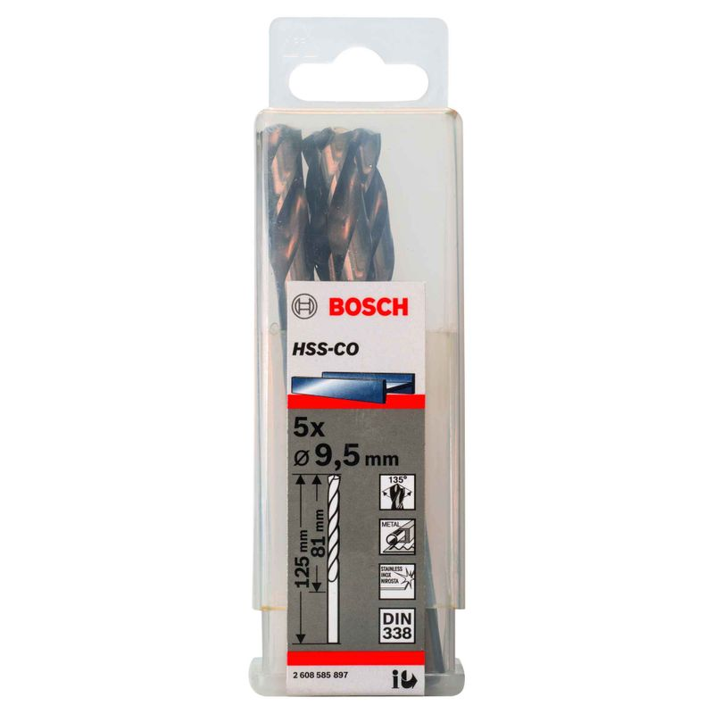 Broca-para-Metal-Bosch-Aco-Rapido---Liga-de-Cobalto-HSS-Co-95mm---5-unidades