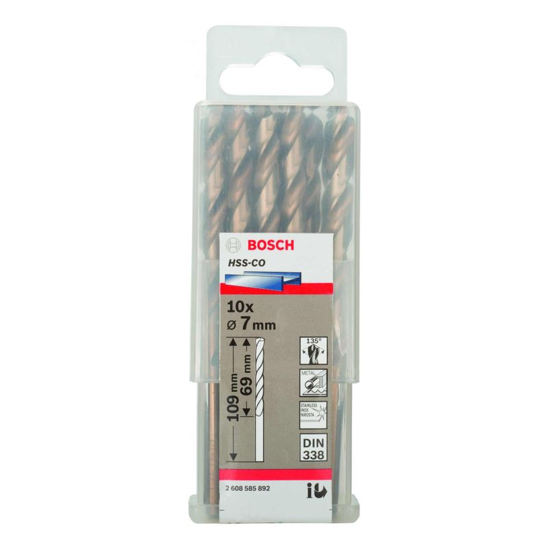Broca-para-Metal-Bosch-Aco-Rapido---Liga-de-Cobalto-HSS-Co-70mm---10-unidades
