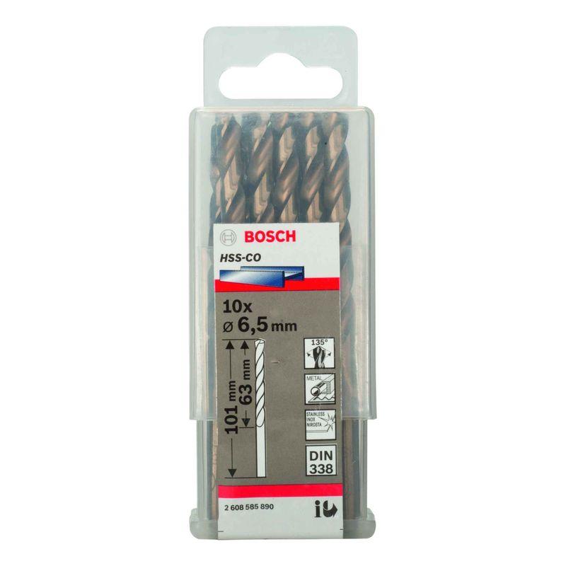 Broca-para-Metal-Bosch-Aco-Rapido---Liga-de-Cobalto-HSS-Co-65mm---10-unidades