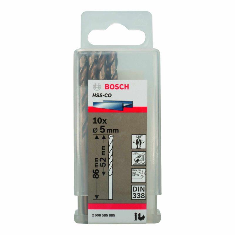 Broca-para-Metal-Bosch-Aco-Rapido---Liga-de-Cobalto-HSS-Co-50mm---10-unidades