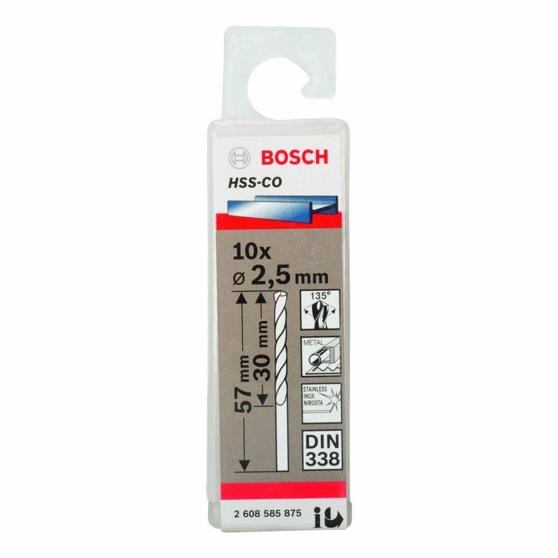 Broca-para-Metal-Bosch-Aco-Rapido---Liga-de-Cobalto-HSS-Co-25mm---10-unidades