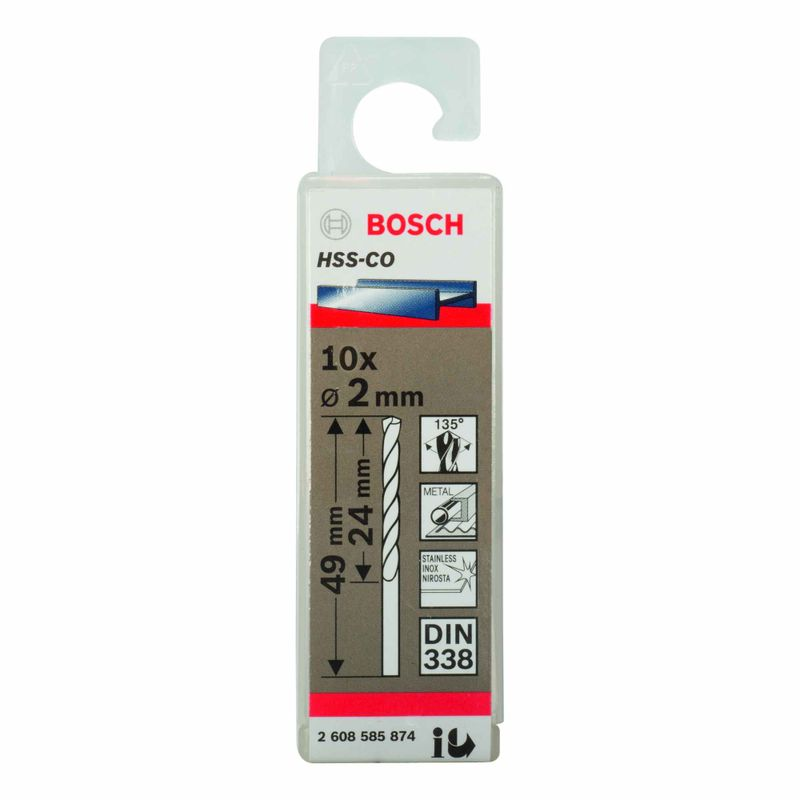 Broca-para-Metal-Bosch-Aco-Rapido---Liga-de-Cobalto-HSS-Co-20mm---10-unidades