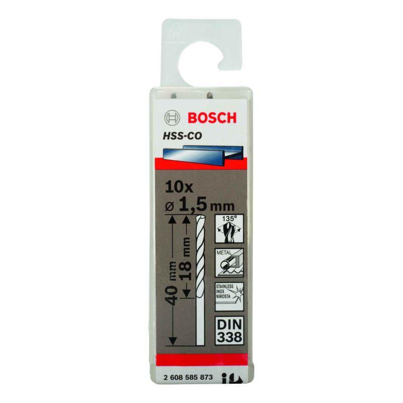 Broca-para-Metal-Bosch-Aco-Rapido---Liga-de-Cobalto-HSS-Co-15mm---10-unidades