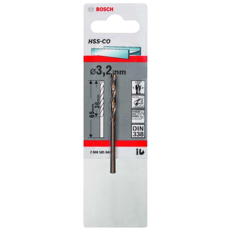 Broca-para-Metal-Bosch-Aco-Rapido---Liga-de-Cobalto-HSS-Co-32mm
