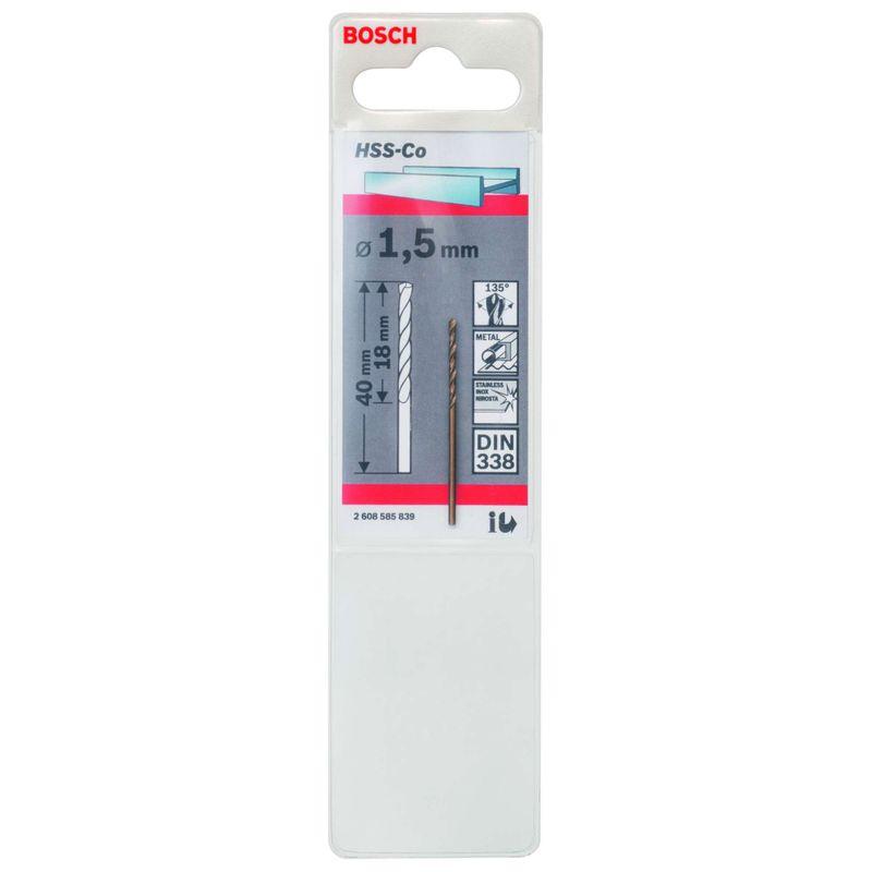 Broca-para-Metal-Bosch-Aco-Rapido---Liga-de-Cobalto-HSS-Co-15mm