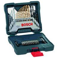 Kit de Pontas e Brocas em Titânio Bosch X-Line para parafusar e perfurar - 30 unidades