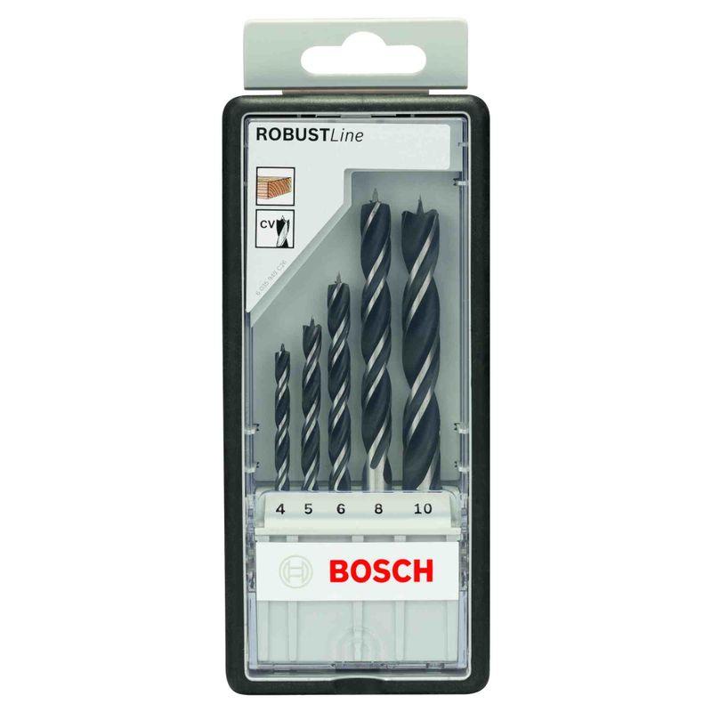 Jogo-de-Brocas-para-Madeira-Bosch-Robust-Line-3-Pontas-40-100mm---5-unidades