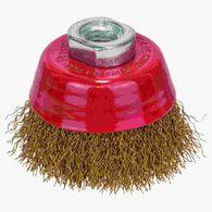 Escova de aço Bosch copo para esmerilhadeira arame ondulado revestido de latão 70xmm