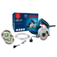 Serra Mármore a úmido Bosch GDC 151 Titan 1500W + Kit de refrigeração e 2 Discos