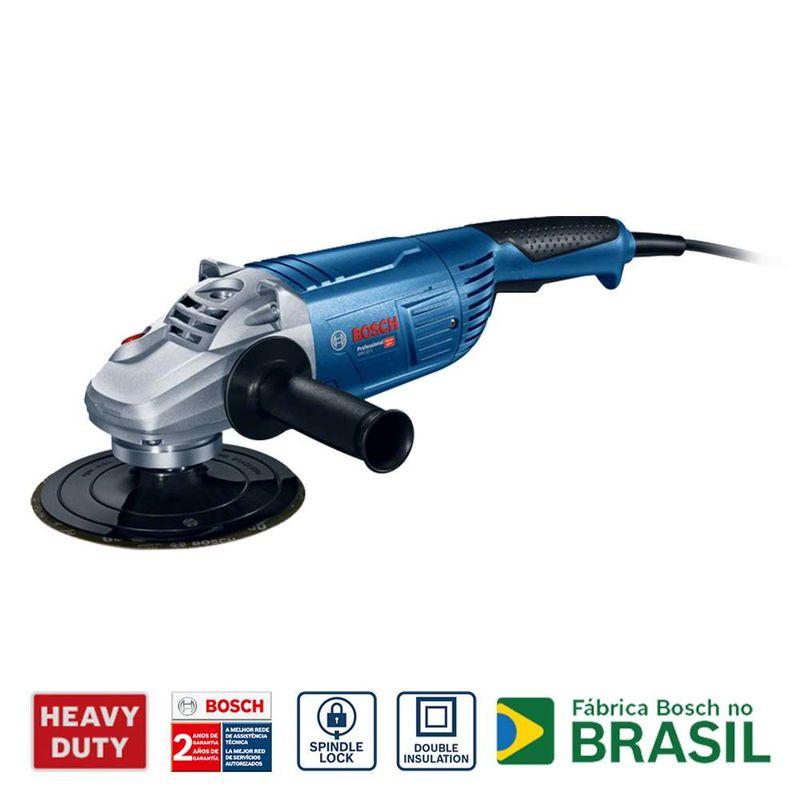 Lixadeira-Angular-Bosch-GWS-22-U-2200W---Chave-aperto---Prato-apoio-220V