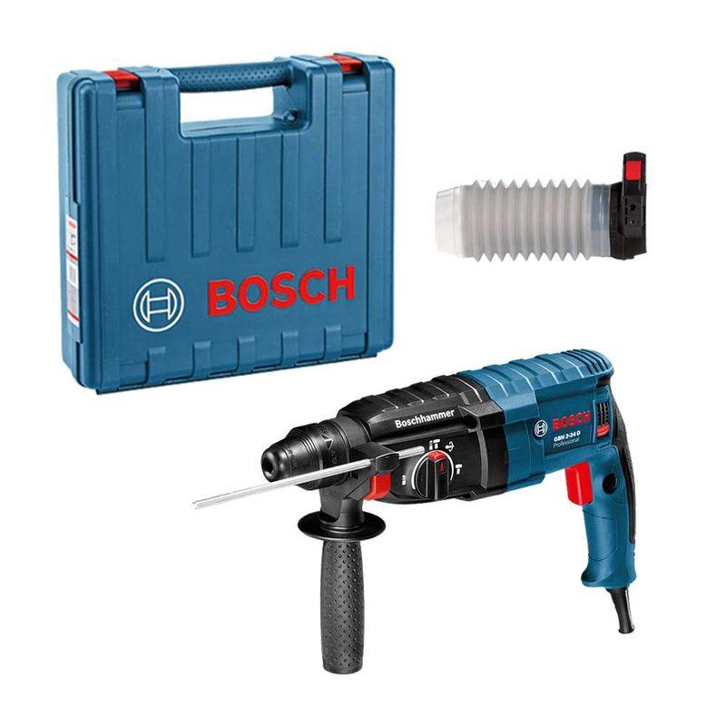 Martelo-Perfurador-Rompedor-Bosch-GBH-2-24-D-820W-27J-EPTA---Coletor-de-Po---Maleta-110V