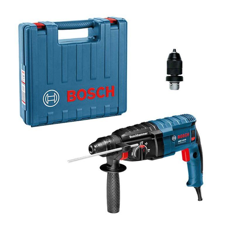 Martelo-Perfurador-Rompedor-Bosch-GBH-2-24-D-820W-27J-EPTA----Adaptador-de-Mandril---Maleta-110V