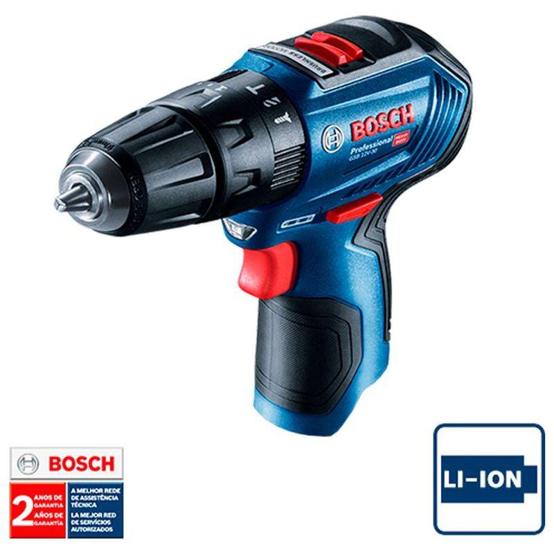 Parafusadeira-Furadeira-de-Impacto-a-Bateria-3-8--Bosch-GSB-12V-30-12V-sem-bateria-e-carregador