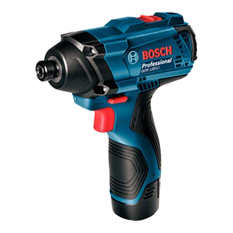Chave-de-Impacto-a-Bateria-de-1-4--Bosch-GDR-120-LI-100Nm-12V---2-Baterias-20Ah---1-Carregador-Bivolt---Maleta