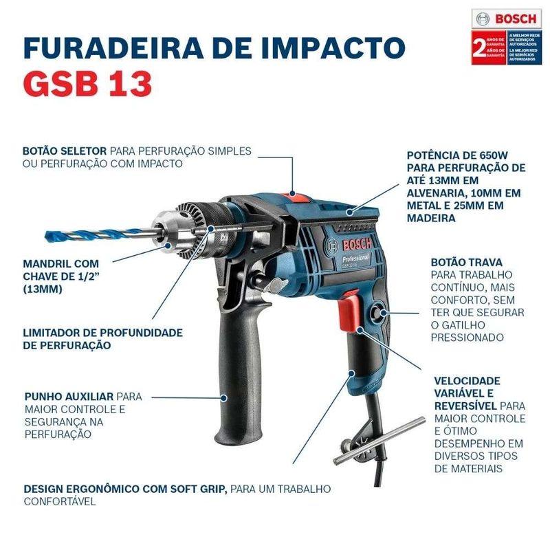 Furadeira-de-Impacto-Bosch-GSB-13-RE-650W-220V
