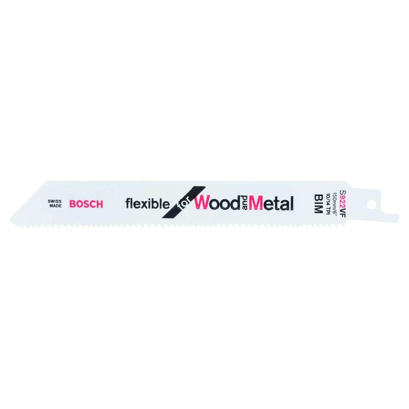 Lamina-de-serra-sabre-Bosch-S922VF-Flexible-for-Wood-and-Metal---2-unidades