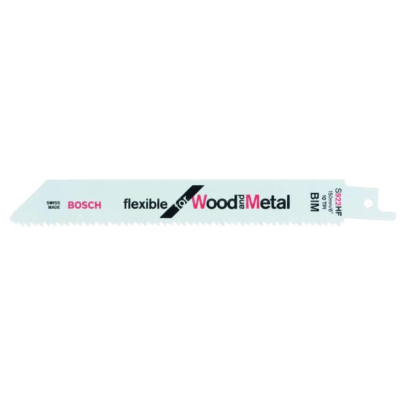 Lamina-de-serra-sabre-Bosch-S922HF-Flexible-for-Wood-and-Metal---2-unidades