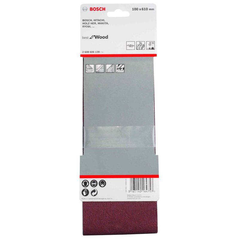 Jogo-de-Cintas-de-Lixa-Bosch-X440-Best-Wood-Paint-100x610mm-G60-80-100---3-unidades