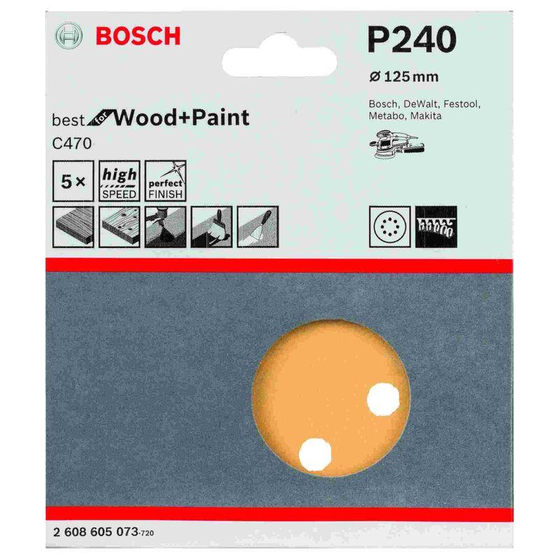 Disco-de-Lixa-Bosch-C470-Best-for-Wood-Paint-125mm-G240---5-unidades