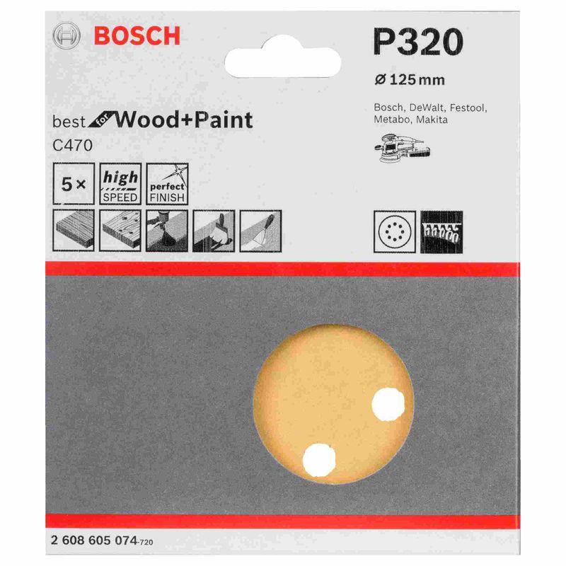 Disco-de-Lixa-Bosch-C470-Best-for-Wood-Paint-125mm-G320---5-unidades