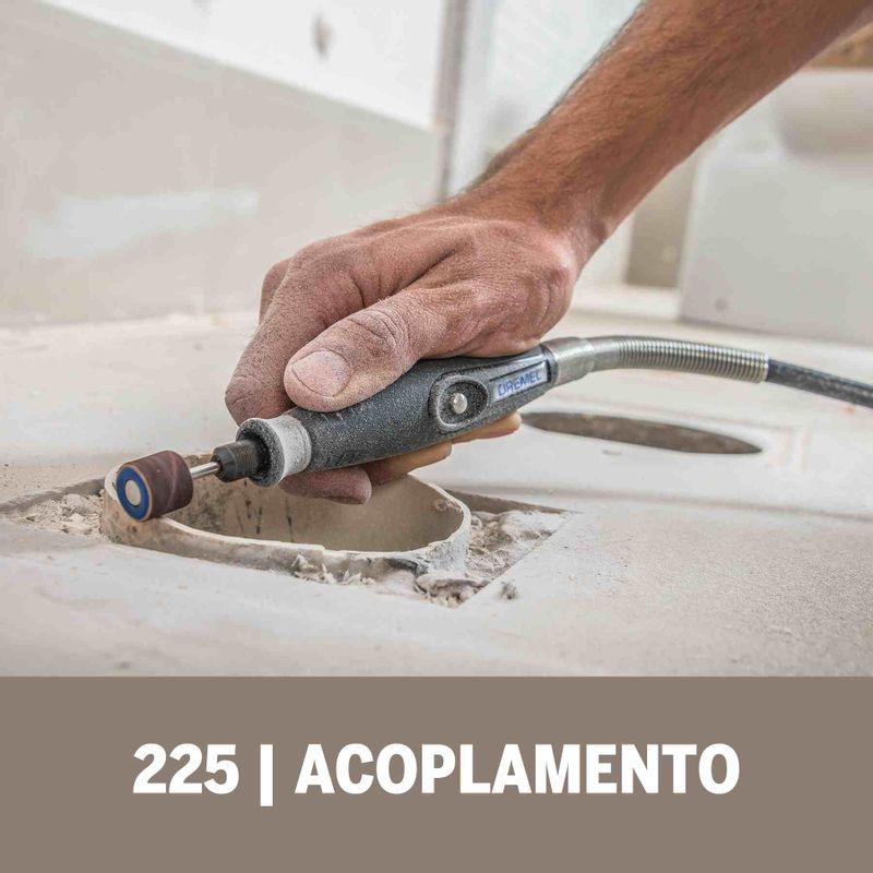 Acoplamento-de-Microrretifica-Dremel-225-Eixo-Flexivel-para-Detalhes