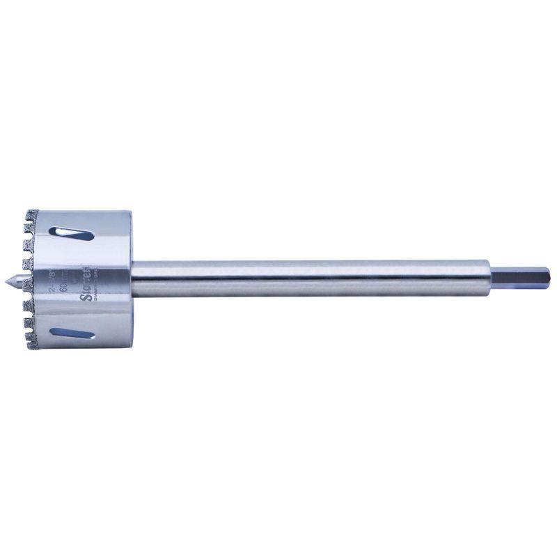 Serra-Copo-Starrett-DE060M-com-Arestas-Revestidas-com-Po-Diamantado-60mm-2.3-8--com-Haste-De-150mm-6-