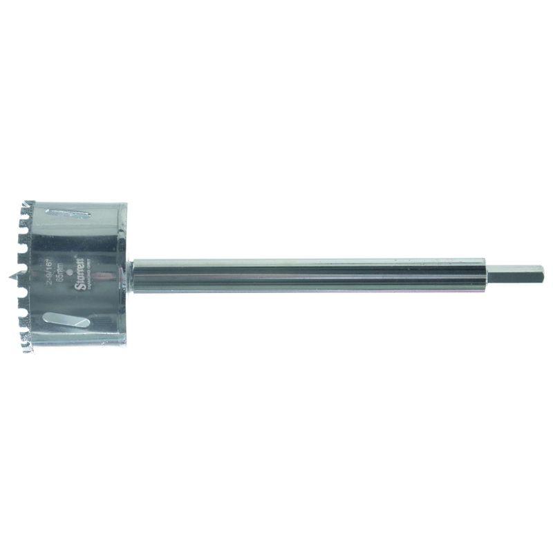 Serra-Copo-Starrett-DE065M-com-Arestas-Revestidas-com-Po-Diamantado-65mm-2.9-16--com-Haste-De-150mm-6-