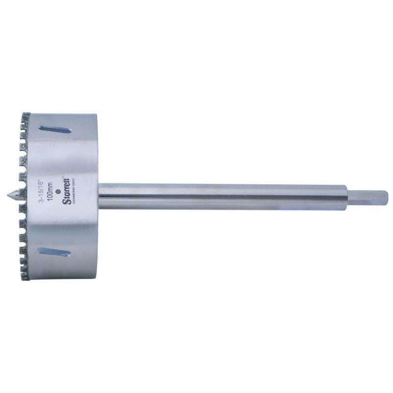 Serra-Copo-Starrett-DE100M-com-Arestas-Revestidas-com-Po-Diamantado-100mm-3.15-16--com-Haste-De-150mm-6-