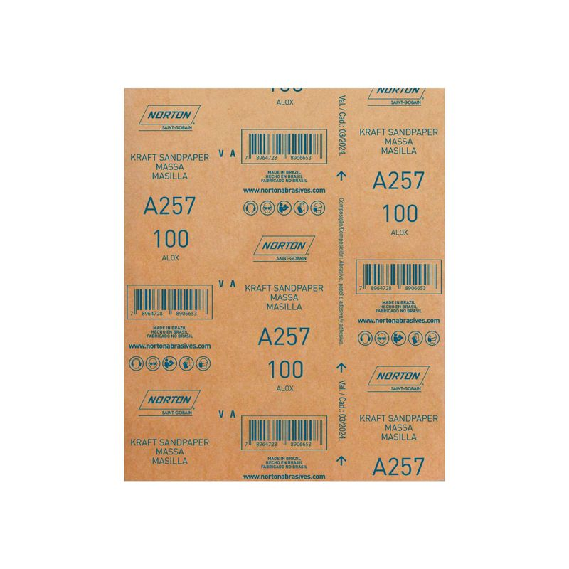 Folha-de-Lixa-Norton-Massa-A257-Grao-100