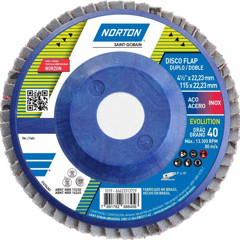 Disco-Flap-Norton-Evolution-Norton-R822-Grao-40-115x2223mm