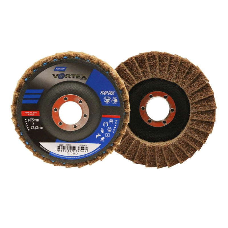 Disco-Flap-Norton-Vortex-Grosso-Marrom-115x22mm