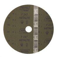 Disco de Fibra Norton Metalite F247 Grão 50 180x22mm