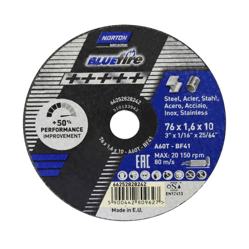 Disco-de-Corte-Norton-Blue-Fire-76x16x10mm