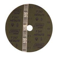 Disco de Fibra Norton Metalite F247 Grão 120 180x22mm